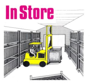 Chitting crates in store